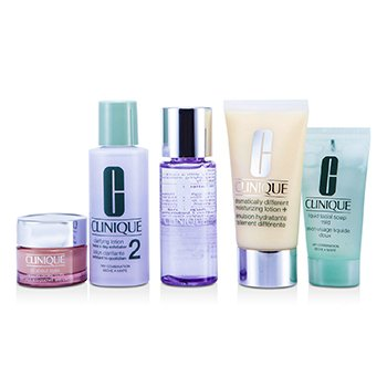 Clinique Exclusive Set: DDLM Plus 50ml + All About Eyes 15ml + Liquid Soap 30ml + Clarifying Lotion #2 60ml + Makeup Remover 50ml