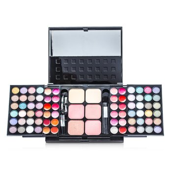 Cameleon MakeUp Kit 396 (48x Eyeshadow, 24x Lip Color, 2x Pressed Powder, 4x Blusher, 5x Applicator)