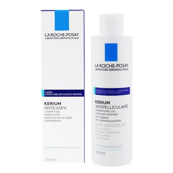 La Roche Posay Kerium Anti-Dandruff Micro-Exfoliating LHA Gel Shampoo (For Oily Scalp)