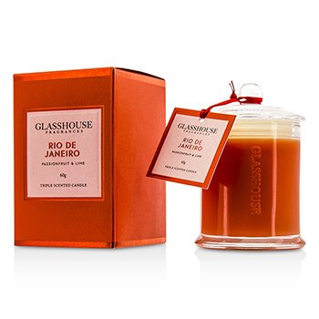Glasshouse Triple Scented Candle - Rio De Janeiro (Passionfruit & Lime)