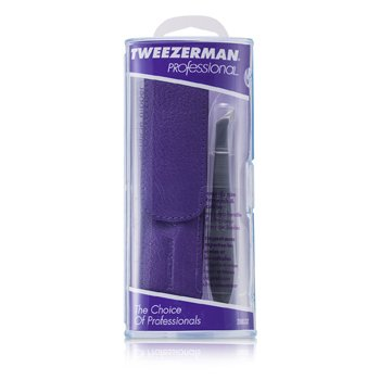 Tweezerman Professional V Cuticle Nipper for Trimming Cuticles & Hangnails - (With Lavender Pouch)