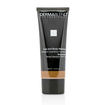 Dermablend Leg and Body Make Up Buildable Liquid Body Foundation Sunscreen Broad Spectrum SPF 25 - #Deep Natural 85N