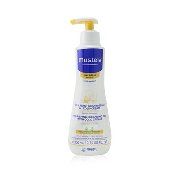 Mustela Nourishing Cleansing Gel with Cold Cream For Hair & Body - For Dry Skin