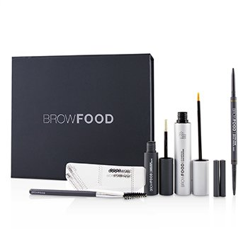 LashFood BrowFood Brow Transformation System - # Dark Brunette (Medium/Dark)