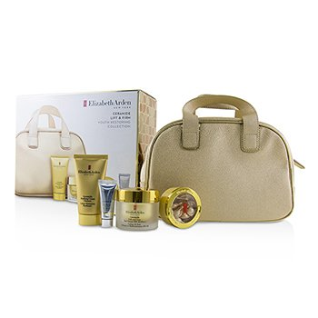 Elizabeth Arden Ceramide Lift & Firm Youth Restoring Collection: Day Cream SPF 30+Ceramide Capsules+Cream Cleanser+Skin Renewal Booster+Bag