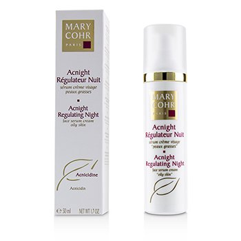Mary Cohr Acnight Regularing Night Face Serum Cream - For Oily Skin