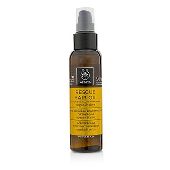 Apivita Rescue Hair Oil with Argan & Olive - For All Hair Types (Exp. Date: 12/2019)