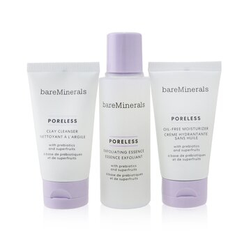 BareMinerals Poreless At Any Age Starter Kit: Clay Cleanser 30ml+ Exfoliating Essence 50ml+ Oil-Free Moisturizer 30ml